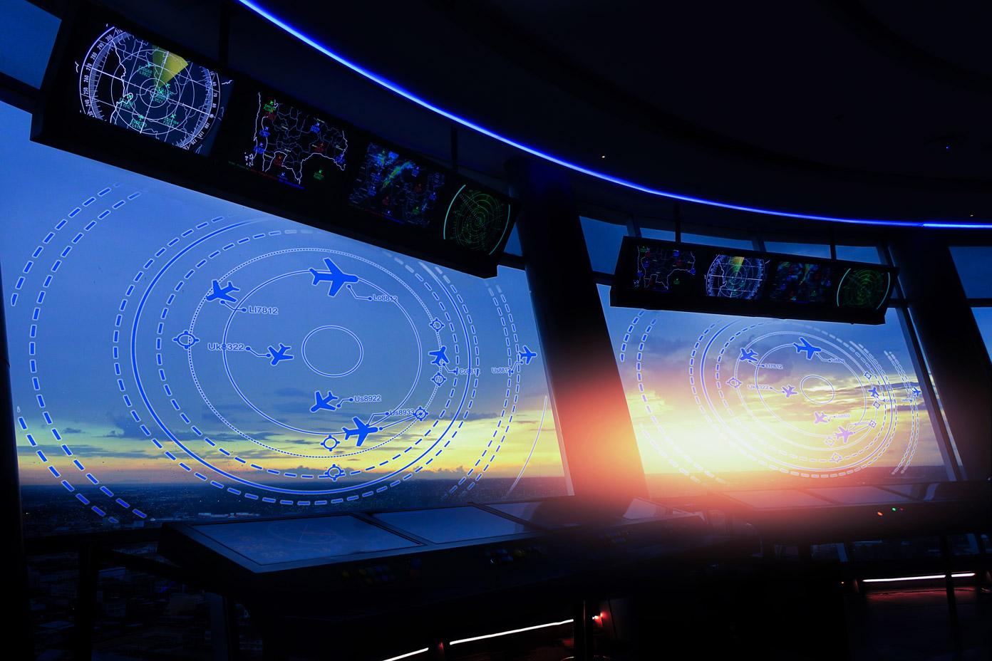 monitor do kontroli lotów